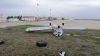 Çorlu'da Fırtına eğitim uçağını ters döndürdü
