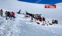 12 şehit verilen helikopterin enkazı kaldırıldı