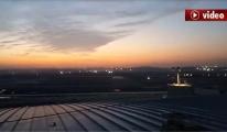 3. Havalimanı Gece Havadan Görüntülendi video