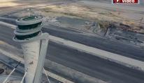 3. Havalimanı Göçük iddiası havadan görüntülendi!