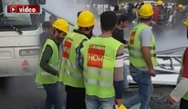 3. Havalimanı işçilerine biber gazlı müdahale!video