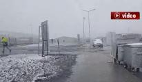 3. Havalimanı'nda kar yağışı başladı! video