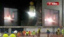 3. Havalimanı'nda patlama VİDEO