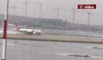 İstanbul Havalimanı yağmurda hız kesmedi!video