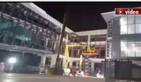 3. Havalimanı'nda A 380 için köprü montajı başladı!video