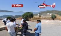 8 Aylık Bebek Helikopterle İzmir'e Sevk Edildi video