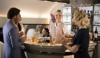 A380'in Uçak İçi Dinlenme Salonunu Görücüye Çıkartıyor