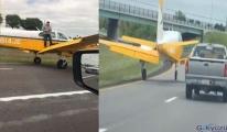 ABD'de arızalanan uçak otoyola indi