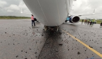 Air Peace Havayolları'na ait uçağın ön dikmesi kırıldı