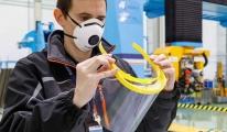 Airbus, COVID-19 ile mücadelede 3D yüz koruma siperi üretiyor