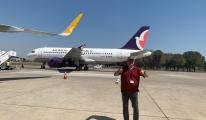 AirMacau A319 tipi uçak Antalya Havalimanı'nda