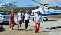 Ali Ağaoğlu helikopterle el öpmeye gitti!