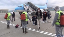 Almanya'dan uçakla 107 Türk vatandaşı, Muş'a geldi