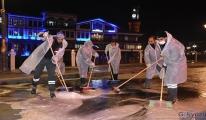 Amasya'da cadde ve sokaklar dezenfekte ediliyor