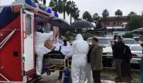 Ambulans helikopter korona hastası için havalandı