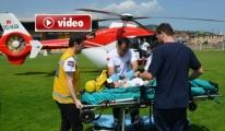 Ambulans Helikopter Ulaş'ın İmdadına Yetişti