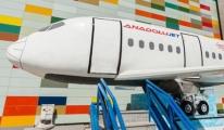 AnadoluJet'in Flyride simülasyon uçağı Antalya'da