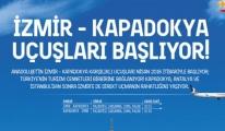 AnadoluJet'in Kapadokya-İzmir Uçuşlar Başlıyor
