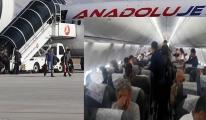 AnadoluJet Uçağında gergin dakikalar...