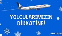 Anadolujet'ten İstanbul uçuşlarına kar iptali!