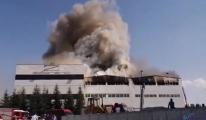 Ankara'da mobilya fabrikasında yangın