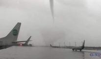 Antalya Havalimanı'nda uçuşlara fırtına engeli!