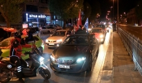 Araç konvoyu yaparak İsrail'i protesto ettiler