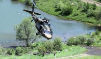 ATAK helikopteri tatbikatta kullanıldı.