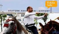 Atatürk Havalimanı'nda oğul Bilal cirit atacak