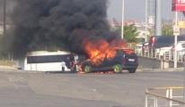 Atatürk Havalimanı'nda Otomobil Alev Aldı