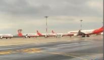 Atlas Global,Uçuşlarını park pozisyonlarına çekti