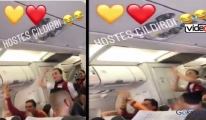 AtlasGlobal hostesi uçakta çıldırdı!video