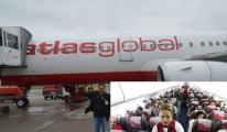 Atlasglobal yolcuları 1,5 saat uçak içinde bekletti!