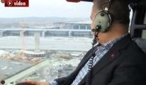 Bakan Arslan, 3. havalimanını havadan inceledi