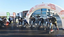 Bakan Karaismailoğlu Scooter yarış startını verdi(video)