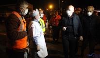 Bakan yeni yıla Karayolları işçileriyle girdi(video)