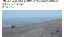 'TurAz Kartalı Tatbikatı'ndan görüntü(video)