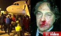 Barbaros Şansal'a Uçakta Yolcular Saldırdı