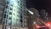 Başakşehir'de 15 katlı binada yangın çıktı