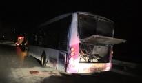 Başakşehir'de otobüste yangın(video)