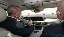 Başkan Erdoğan Otoyolu'nu makam aracıyla test etti(video)