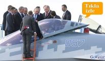 Başkan Erdoğan, Rus Savaş Uçağı SU-57'yi İnceledi