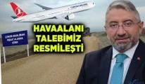 Başkan havaalanının revizesi için müracaat etti