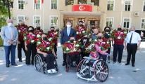 Bedensel engelli basketbolcuları vali karşıladı#video