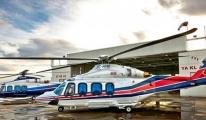 Belediye helikopteri acil iniş yaptı