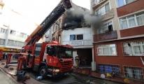 Beyoğlu'nda halı yıkama fabrikasında çıkan yangın