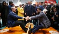 Bilal Erdoğan ve Hamza Yerlikaya mas güreşi yaptı video
