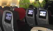 Boeing 777 tipi ,uçakta bir kadın yolcu hayatını kaybetti.