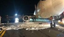 Boeing B737-400 tipi uçak pistten çıktı