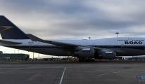 British Airways BOAC uçağını hangardan çıkardı
